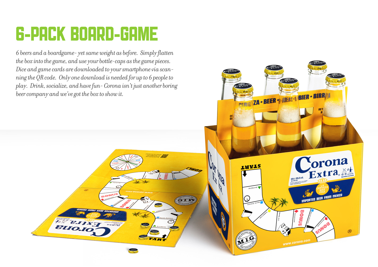 Engage consummers with clever packaging – Corona board game